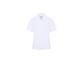 White Woman short sleeves polo